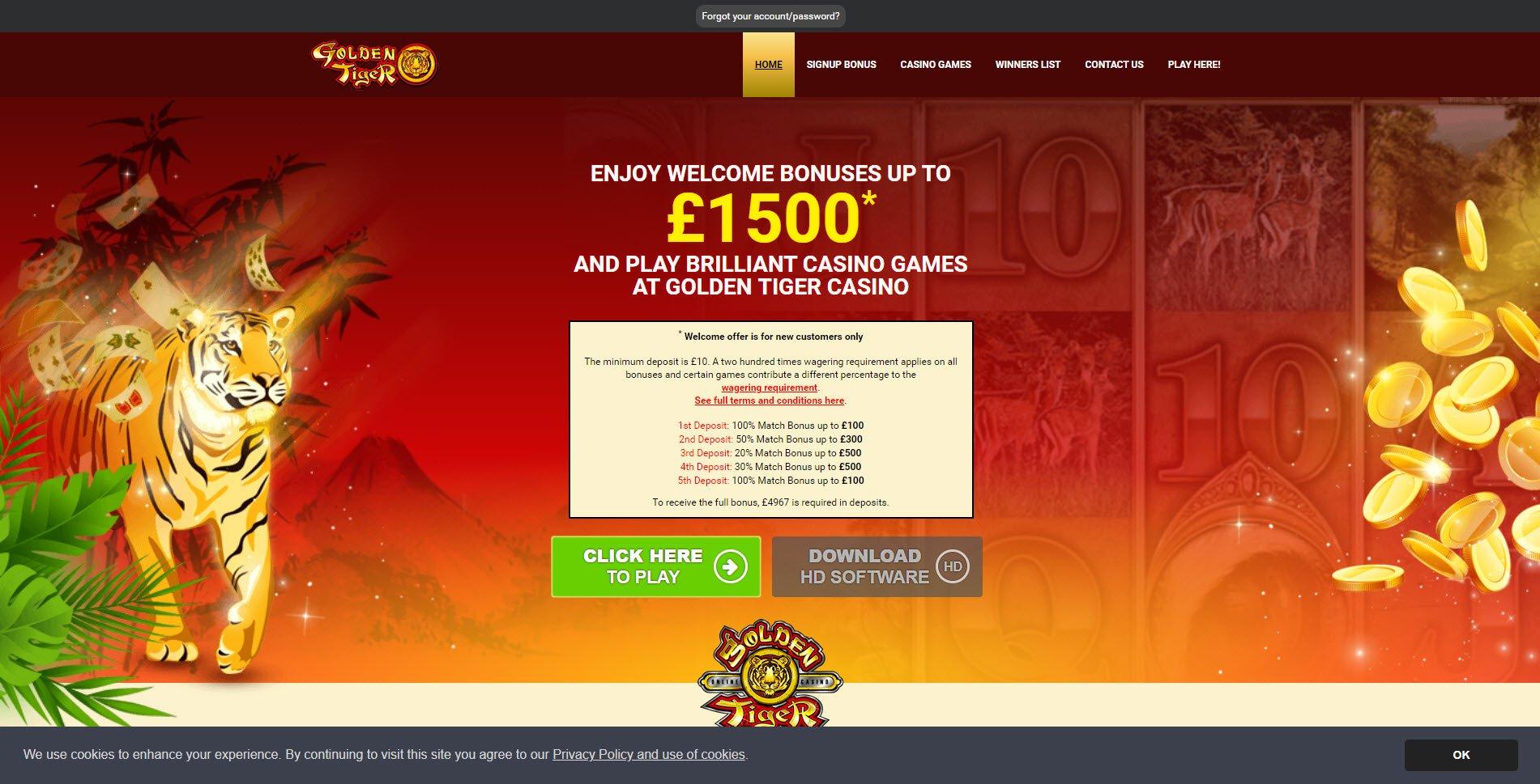 Golden Tiger Casino Flash